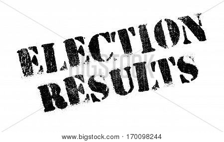 Election Results rubber stamp. Grunge design with dust scratches. Effects can be easily removed for a clean, crisp look. Color is easily changed.