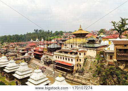 View of Pashupatinath Temple Area Kathmandu ,Nepal