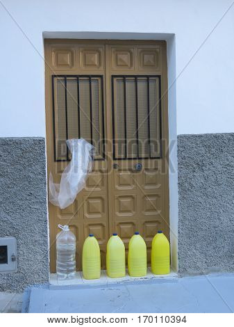 Proven method for preventing dogs releving themselves on your doorstep. Alora Village Andalusia