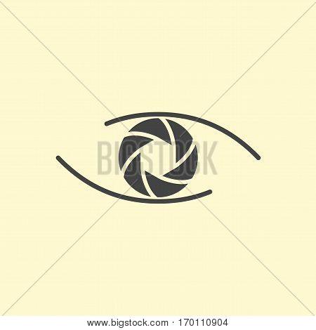 Photography logo design eye. Vector eye logotype