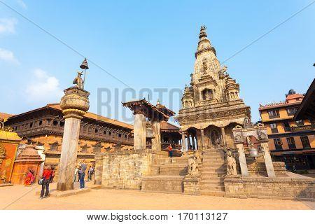 Bhaktapur Durbar Square Vatsala Durga Palace Close
