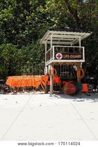 Life guard point safe for the traveller