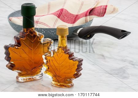 beautifully styled delicious maple syrup from maple tress