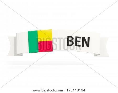 Flag Of Benin On Banner