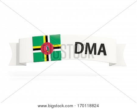 Flag Of Dominica On Banner