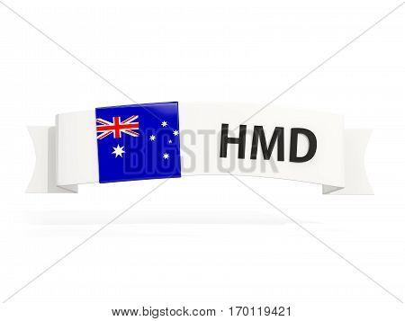 Flag Of Heard Island And Mcdonald Islands On Banner