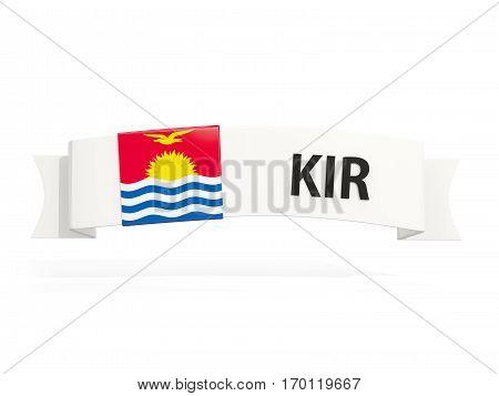 Flag Of Kiribati On Banner