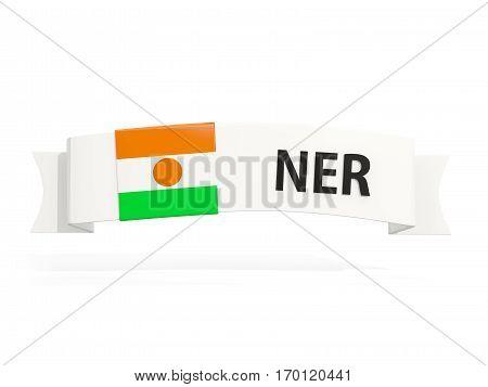 Flag Of Niger On Banner