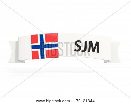Flag Of Svalbard And Jan Mayen On Banner