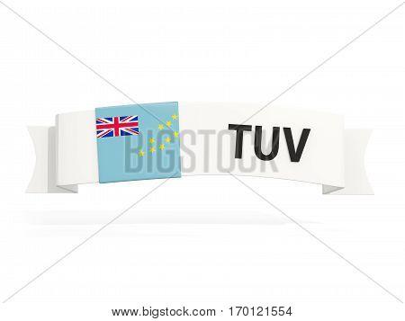 Flag Of Tuvalu On Banner