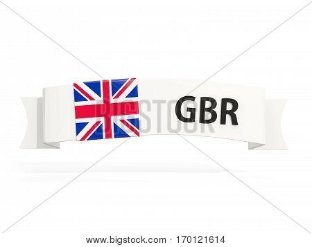 Flag Of United Kingdom On Banner