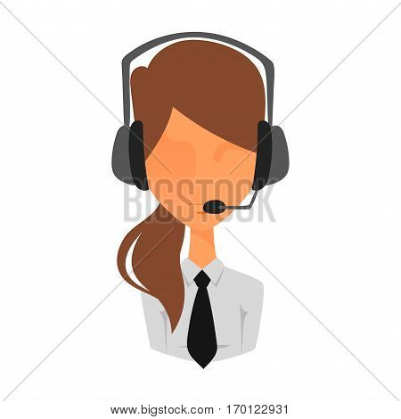 Woman portrait face icon web avatar flat style. Vector adult female unknown anonymous silhouette. Business manager character illustration.