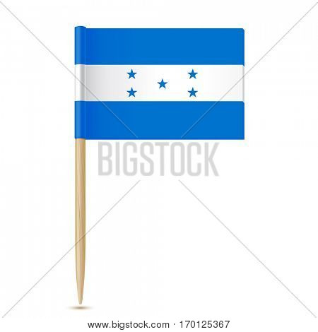 Honduras flag. Flag toothpick  on white background 10eps
