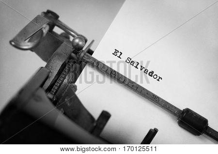 Old Typewriter - El Salvador