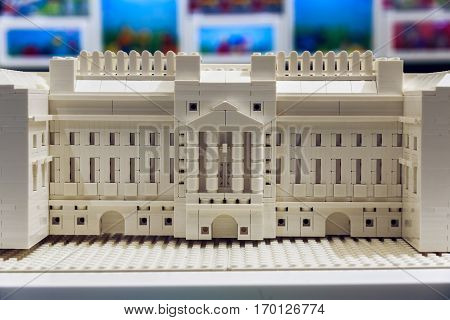 Buckingham Palace Built From Lego Bricks