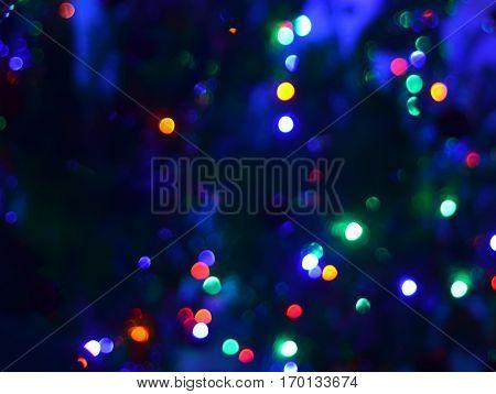 Abstact Dark Night Blury Defocus Bokeh Light Background Photography