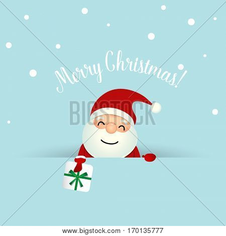 Christmas Greeting Card with Christmas Santa Claus. Vector illustration