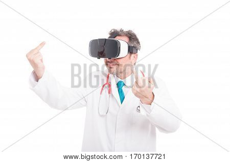 Doctor Or Medic With Futuristic Headset