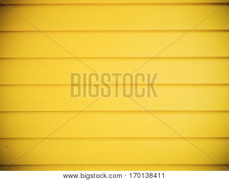 Yellow wood horizontal panel wall for background