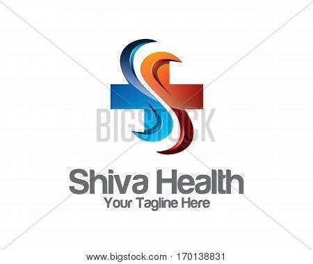 3D Healthcare Business Identity Logo Template. Healthcare Vector Logo Design Branding Corporate Iden