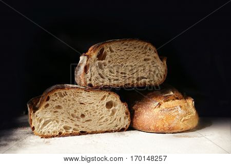 A crusty loafs of fresh rye bread