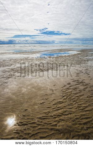 maritime seaside landscape garonne estuary near Royan France