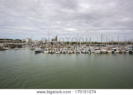 Port of Royan in France region Charentes-Poitou department Charente Maritime