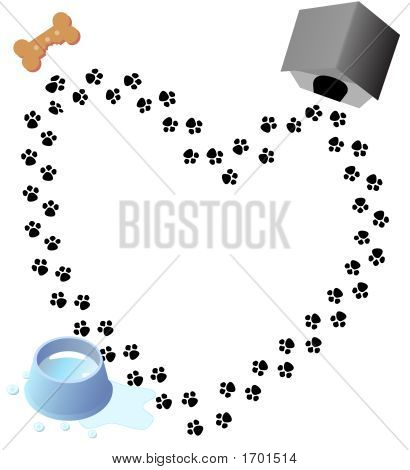 Puppy Love Paw Prints Trail