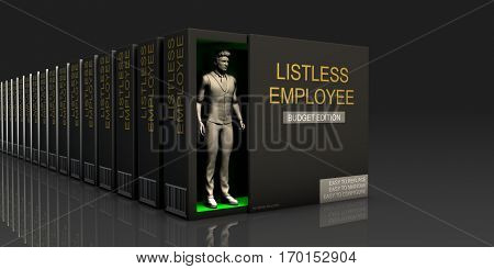 Listless Employee Endless Supply of Labor in Job Market Concept 3d Illustration Render