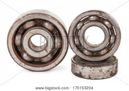 Old rusty bearings
