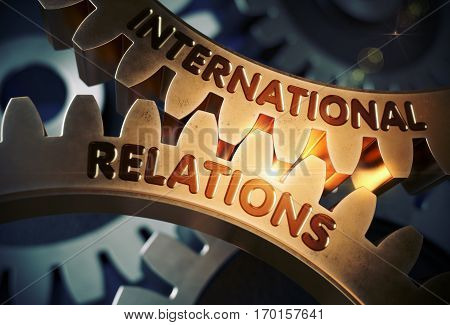 International Relations - Illustration with Glow Effect and Lens Flare. International Relations - Concept. 3D Rendering.