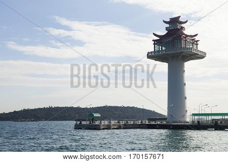 The big beautiful beacon gives signals to seamen