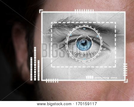 iris biometric security scanner retina eye authentication
