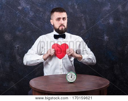 Young Funny Man With Gift Is Preparing For The Holiday 10