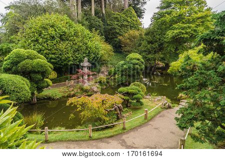 Japanese Tea Garden in The Golden Gate Park, San-Francisco, USA.