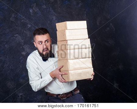 Young Funny Man With Gift Is Preparing For The Holiday 17