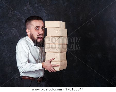 Young Funny Man With Gift Is Preparing For The Holiday 20