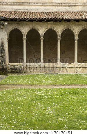 Cloister French medieval village Saint Emilion France