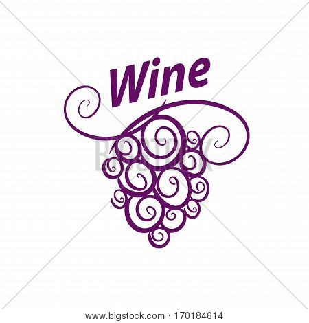 bunch of grapes for wine logo. Vector illustration of icon