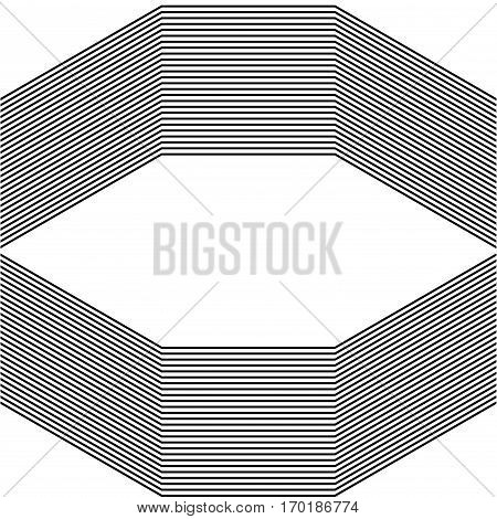 Abstract black and white background, place for text, stock vector illustration