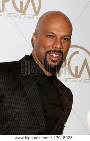 LOS ANGELES - JAN 28:  Common at the 2017 Producers Guild Awards  at Beverly Hilton Hotel on January 28, 2017 in Beverly Hills, CA