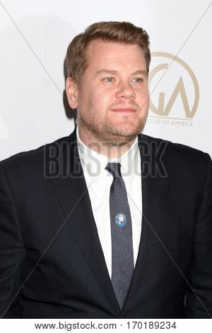 LOS ANGELES - JAN 28:  James Corden at the 2017 Producers Guild Awards  at Beverly Hilton Hotel on January 28, 2017 in Beverly Hills, CA