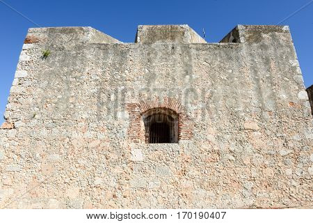 Window Of El Morro Castle At Santiago De Cuba
