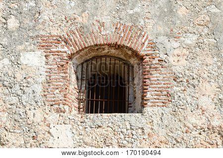 Window Of El Morro Castle At Santiago De Cuba