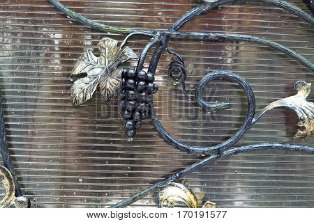 forged items from iron grapes wrought iron