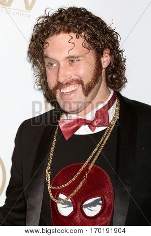 LOS ANGELES - JAN 28:  TJ Miller at the 2017 Producers Guild Awards  at Beverly Hilton Hotel on January 28, 2017 in Beverly Hills, CA