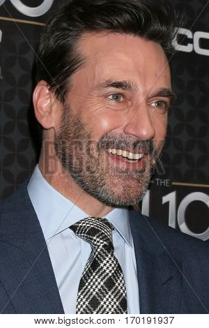 LOS ANGELES - JAN 27:  Jon Hamm at the NHL 100 Gala at Microsoft Theater on January 27, 2017 in Los Angeles, CA