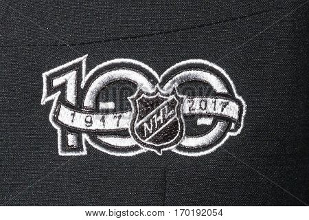 LOS ANGELES - JAN 27:  NHL 100 Emblem at the NHL 100 Gala at Microsoft Theater on January 27, 2017 in Los Angeles, CA