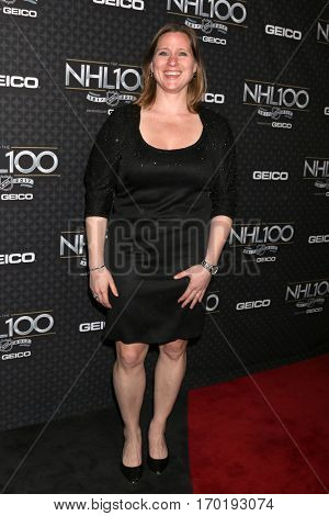 LOS ANGELES - JAN 27:  Angela Ruggiero at the NHL 100 Gala at Microsoft Theater on January 27, 2017 in Los Angeles, CA