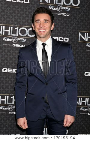 LOS ANGELES - JAN 27:  Billy Flynn at the NHL 100 Gala at Microsoft Theater on January 27, 2017 in Los Angeles, CA